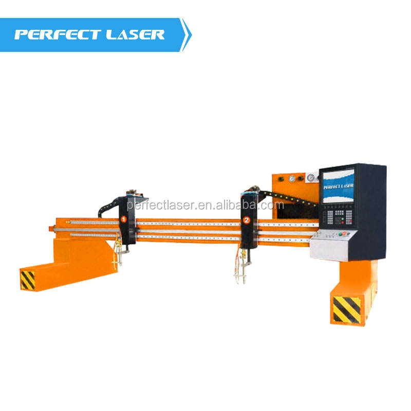 Perfect Laser-Stainless Steel Copper Plasma/Flame Light Gantry CNC Metal Cutting Machine