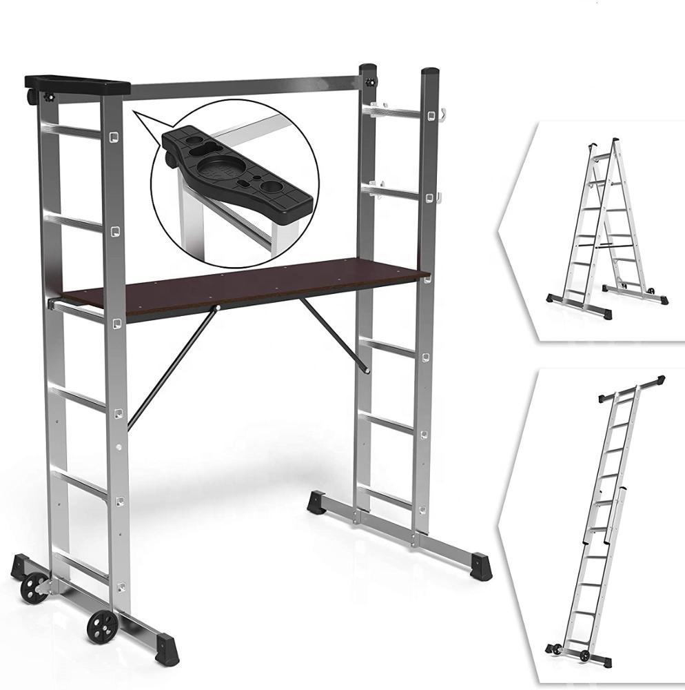 2*6 steps aluminum folding scaffold ladders and scaffoldings