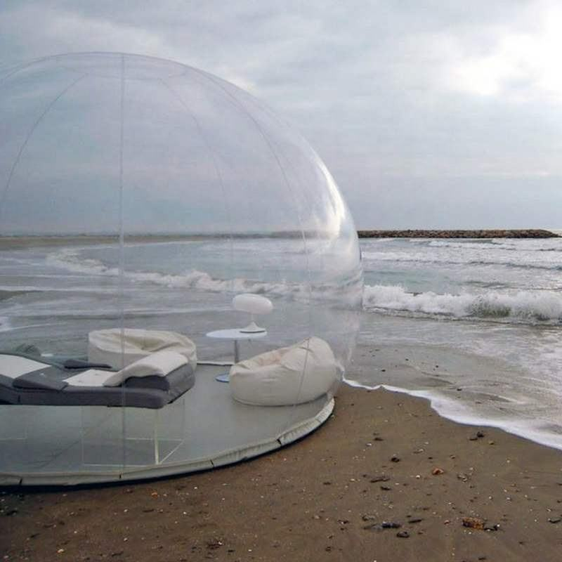 PVC Inflatable Bubble Tent, Inflatable Clear Dome, Clear Camping Tent Advertising Inflatables