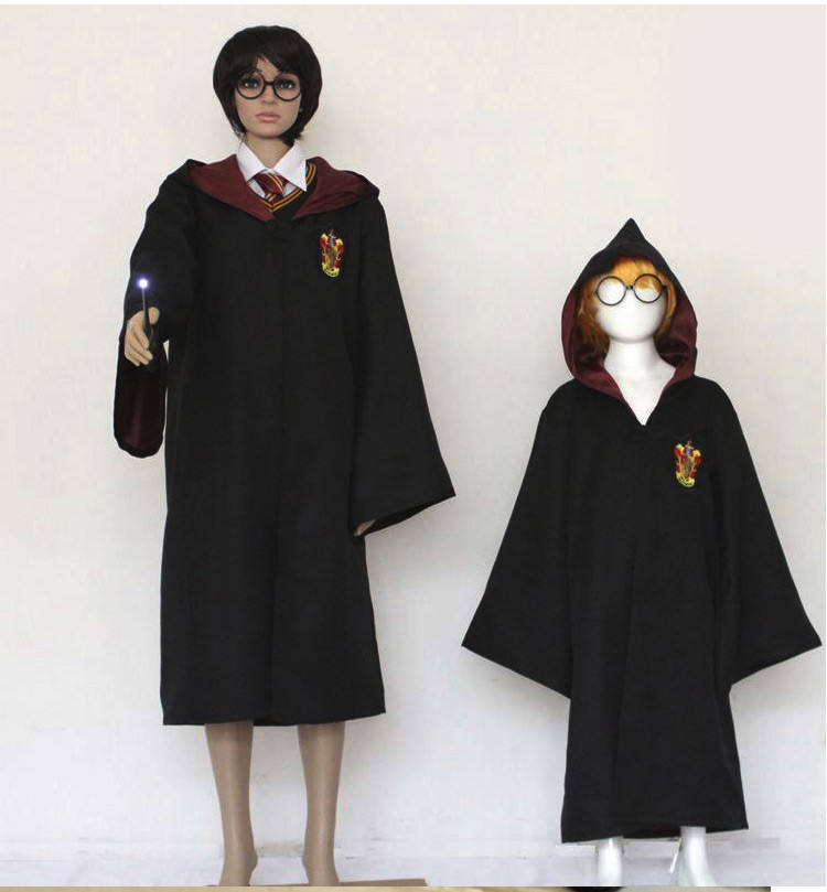 Logo personnalisé Harry Robe Costume Potter Cosplay Cape Cosplay Harry Deguisement Halloween <span class=keywords><strong>Costumes</strong></span> de Fête