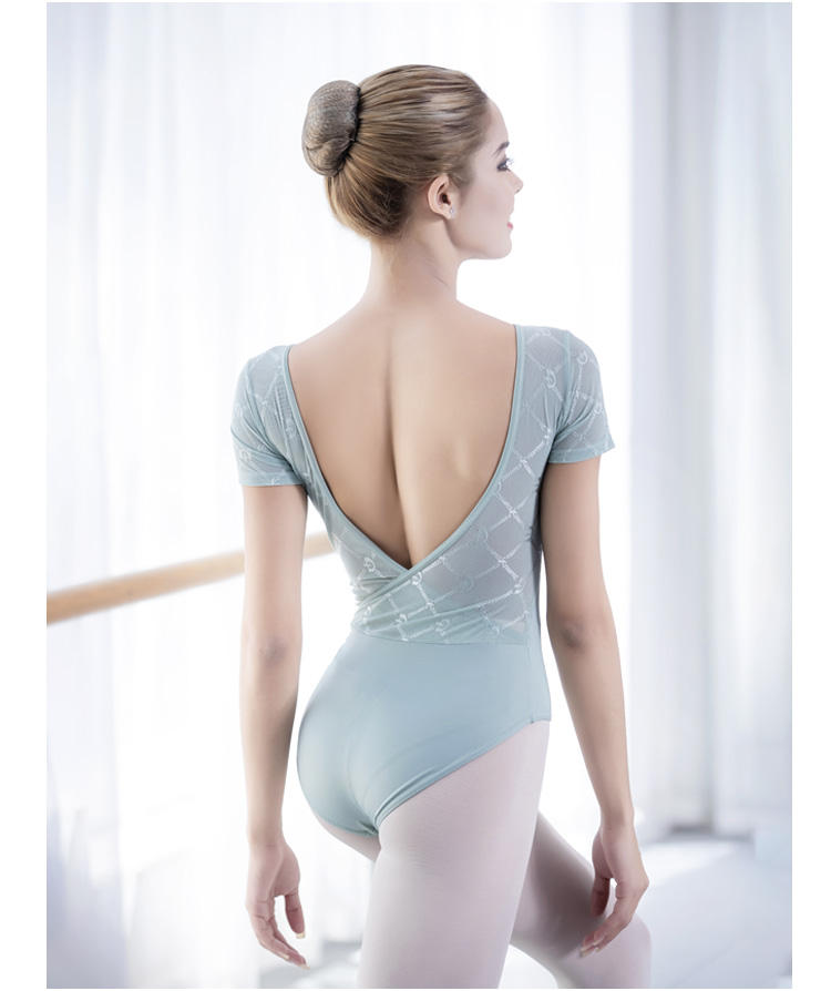 2019 Hot Selling LYCRA Low Back Ballet Leotards Training Dancewear Leotards For Women