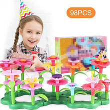 2020 Amazon Hot Selling 98PCS Flower Garden Building Toys Building Blocks For Toddlers And Kids