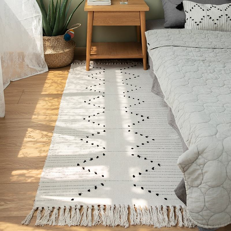 Wholesale unique style home decor livingroom custom handmade carpet white home carpets and rugs for sale