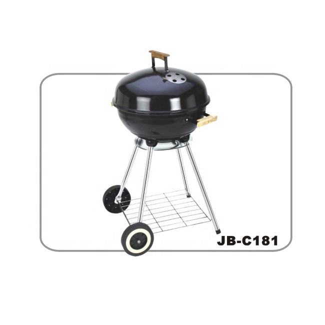 bbq grill with wooden handle,with grill pan