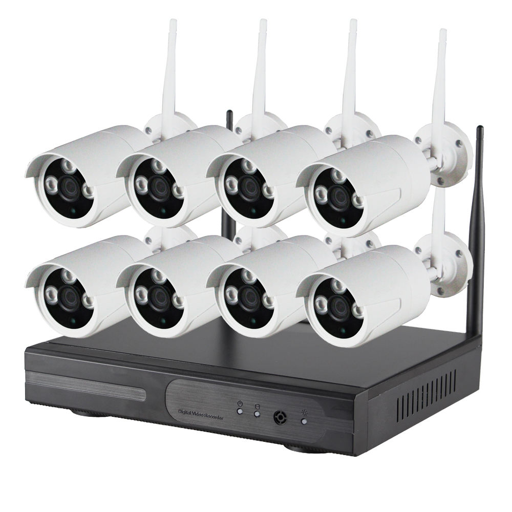 long range night vision cctv CAMERA VIDEO SURVEILLANCE Wireless Home Security Camera System 720P/1080P 4CH 8CH system cctv