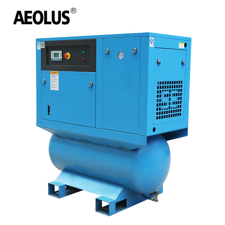 AEOLUS 10HP air compressor dryer with 300L tank 7.5KW screw compressor air Sandblasting Rock drill Spray paint