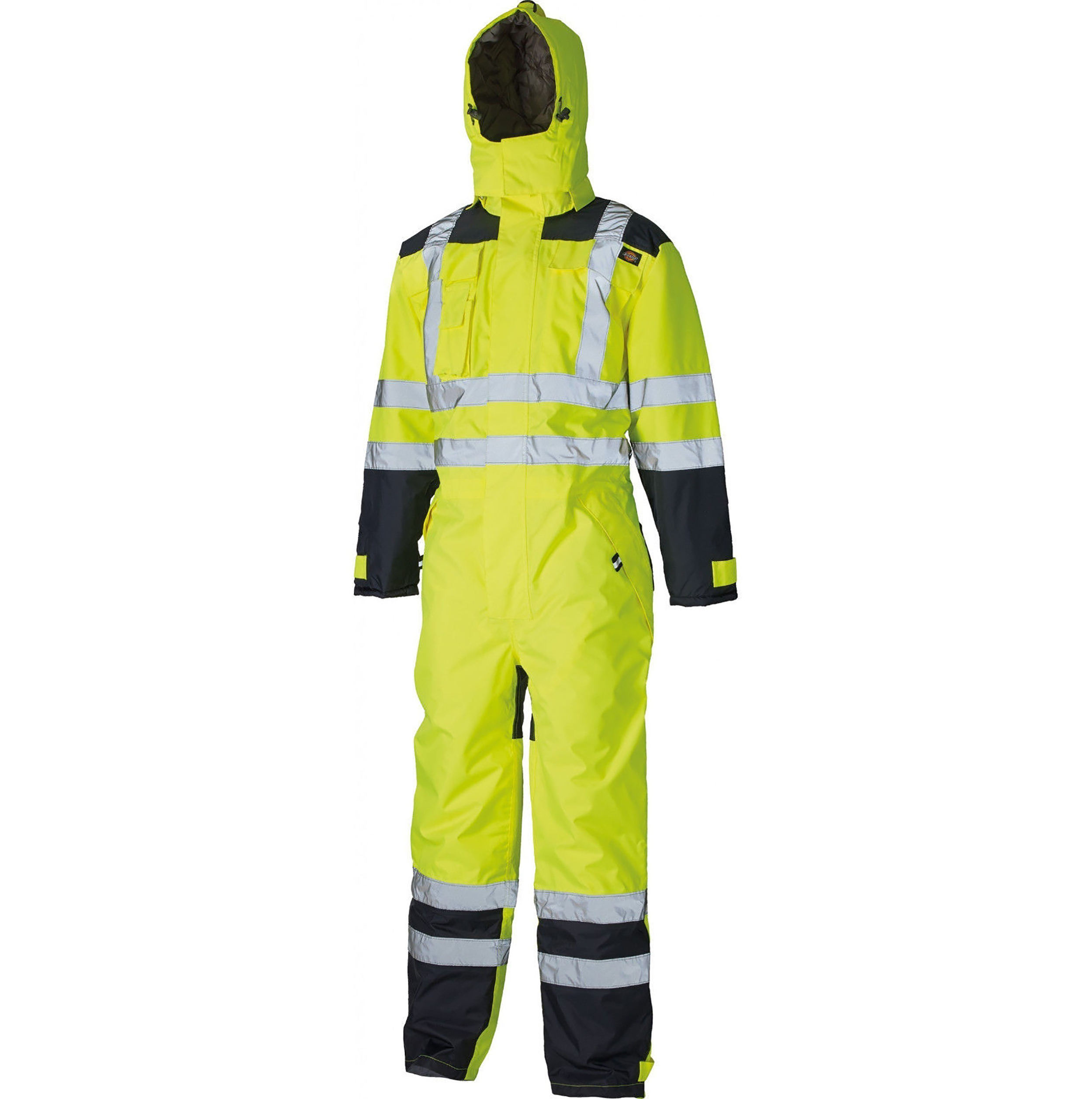 Hot Cotton PU Coat Winter Harsh Cold Condition Working Waterproof Windproof Wear Hi Vis Safety Workwear Reflective Coverall