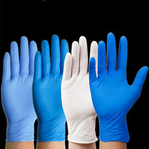 Blue Cheap Custom Nitrile Gloves Powder Free, Examination Disposable Latex Nitrile Gloves