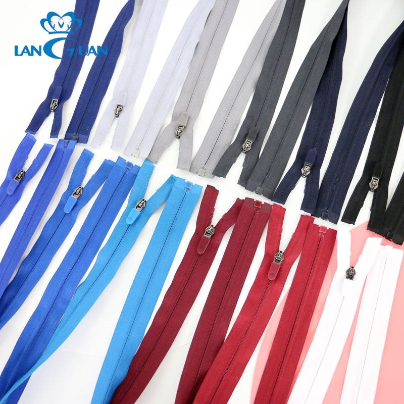 70cm/75cm open end atuo lock invisible nylon reversible zipper for jacket