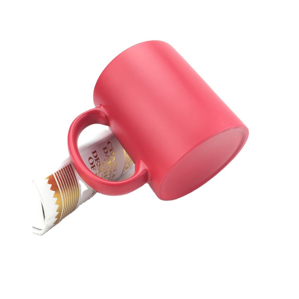 Transfer Mug Designs Coffee Mugs Red for Semi-sanding Wholie Color Changed Mug
