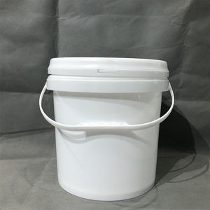 10l Custom White Food Grade Plastic Bucket With Lid And Handle