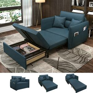 High Quality Folding Sofa Bed Fabric Convertible Sofa Living Room Loveseat Sofas Save Space Flat Storage Couch