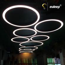 Led Linear Light Fixture Customized Diameter Size Round Arc Circular Shape modern Led Ring Linear Pendant Lights