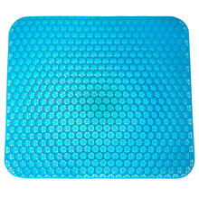 2020 Hottest Truck Square Double Gel Layers Silicone Egg Seat Cushion Cooling Orthopedic Memory Gel egg Chair Sitter Cushion
