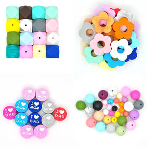 Wholesale Bulk 100% Food Grade Bpa Free 15Mm Letter Teether Beads Baby Teething 10Mm 12Mm Silicone Beads