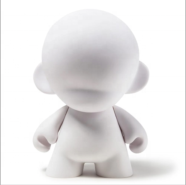 Customized 2019 3d printing vinyl toy DIY blank white vinyl figure toys drawing