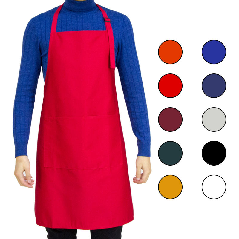 Bakery apron custom chef and bbq apron cotton with customized logo for Ready chef unisex apron for women and men