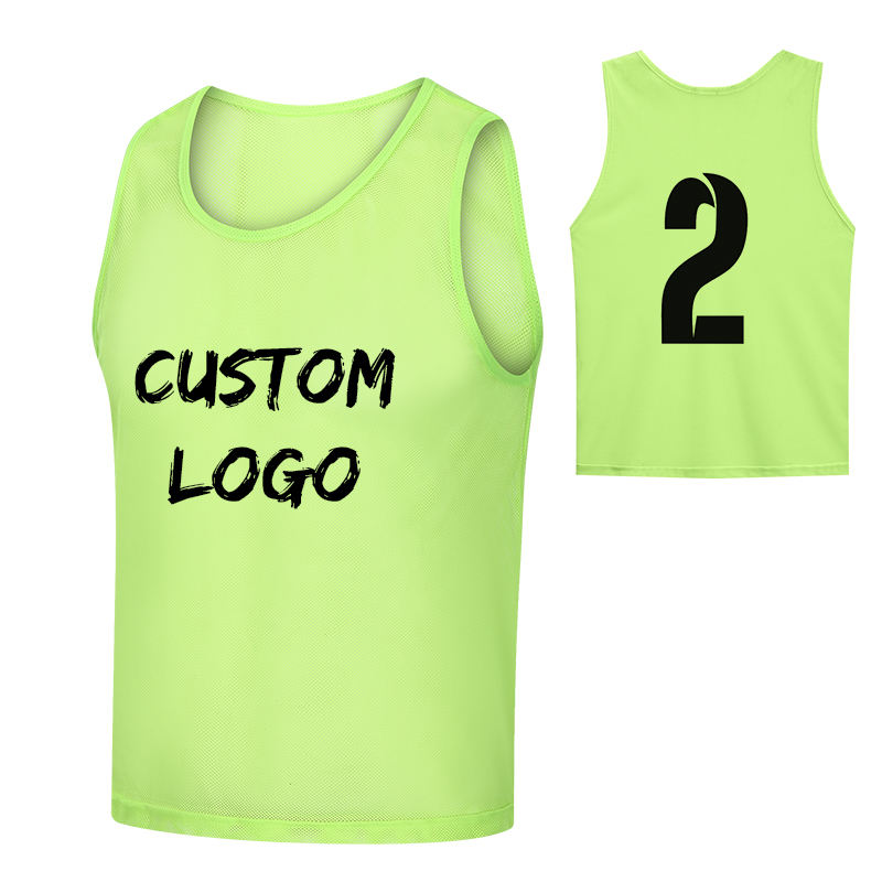 Cheap Custom Sports Mesh Pennies Basketball Football Scrimmage Training Vests Reversible Soccer Bibs