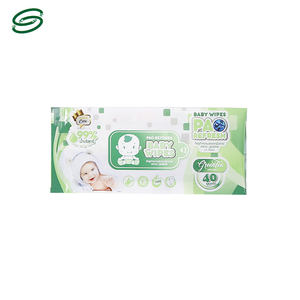 Factory Supply Custom Printing Logo Plastic Packaging Baby Wet Wipe, Baby Wet Wipe Pouch Bag