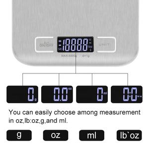 Low price Stainless Steel Multifunction 5Kg 11Lb Slim Electronic Weighing Kitchen Food Digital Scale