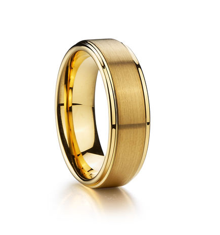Wedding Rings Manufacturers Custom 18K Rose Gold Plated Tungsten Jewelry Ring For Wedding Tungsten Carbide Rings Spinner