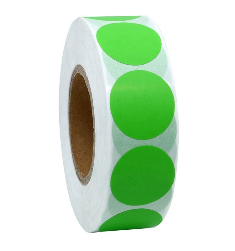 Hybsk цвет кодирования Dot этикетки 25 мм круглый натуральный бумага наклейки клей Этикетка 1000 в рулон (1 рулон)
