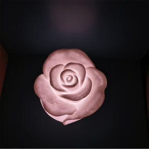 Sandstone Automatic Colored Flower Rose Lighting For Home Decoration
