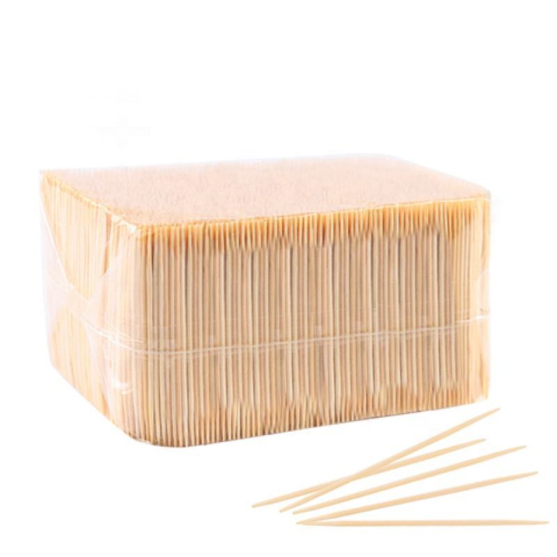 China Supplier Food Grade Disposable Bamboo Toothpicks Single Pointed In Bulk