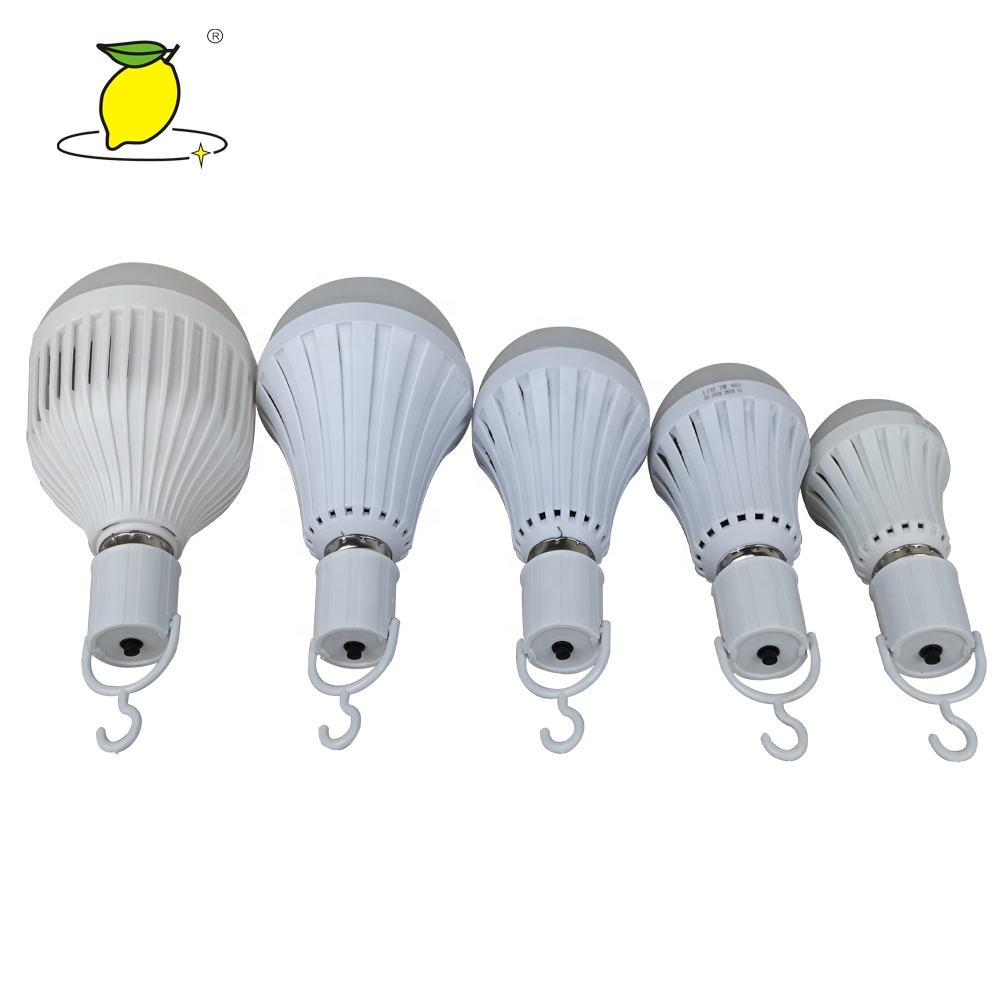 Hot sale Super Power 5W E27 85-265V Saving Energy LED Rechargeable Emergency Light Bulb