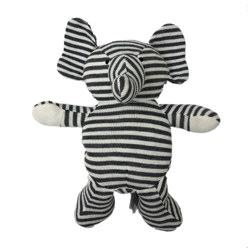 2019 animal new design hot sale Soft Hand Knitted Toy, Elephant Doll Toy small knit toy