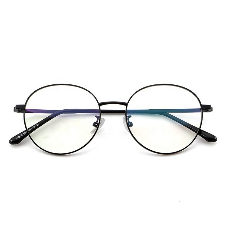 China Wholesale Clear Lens Gold Eyeglasses Frames Metal Optical Frame