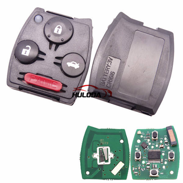 For honda City 3+1 button remote with 313.8MHZ with PCF7961 chip