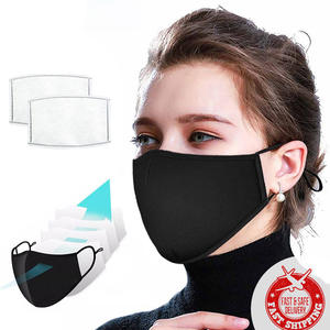 Fashion Out Door Adult Cotton washable face maskes fabric Face cover black maskes with filter replace Active Carbon