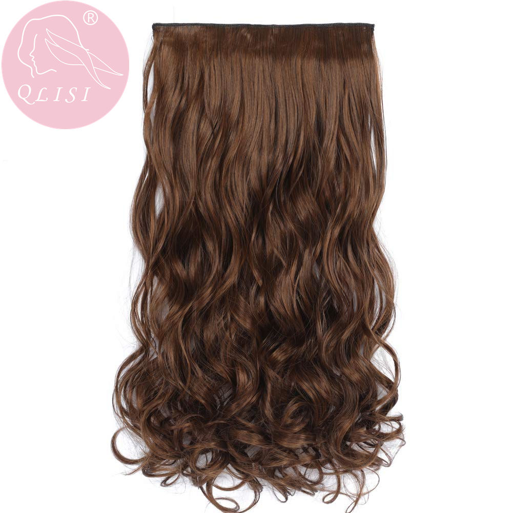Curly Straight Hair Ponytail Synthetic Hair Fiber Clips In Hair Extensions