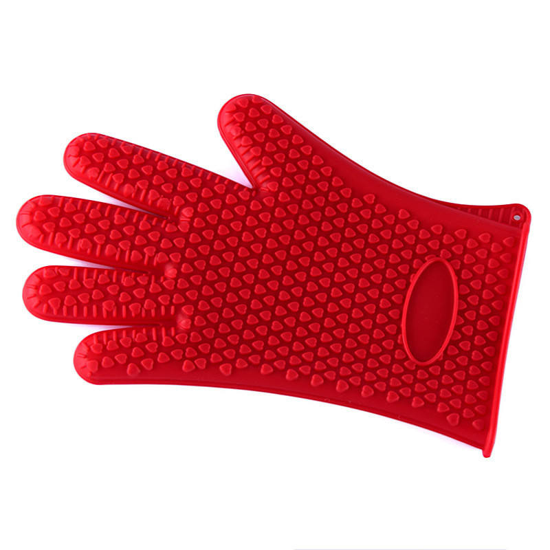 1 piece food grade Cooking Baking BBQ glove Heat Resistant Silicone BBQ Grill Glove barbecue grilling glove BBQ tools