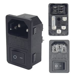 IEC320 C14 10A 250V AC sockets and switches power connector with fuse