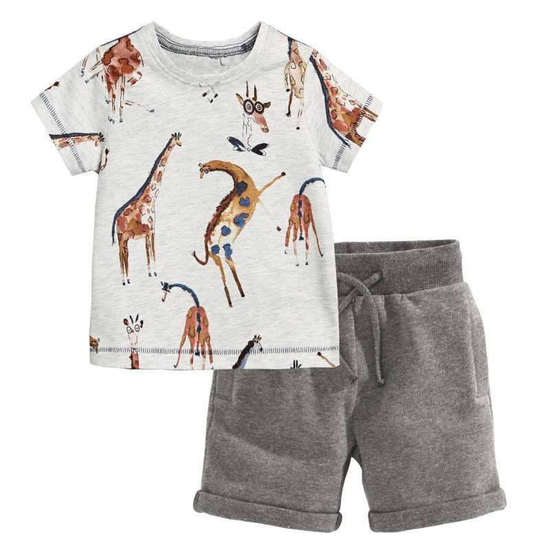 American style summer baby boys' clothing sets cotton kids toddler clothing sets boy boys summer clothing sets