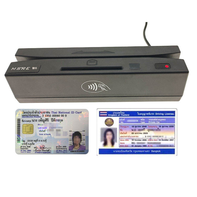 Thailand Thai National ID <span class=keywords><strong>Kartu</strong></span> Chip & Magnetic SIM Card Reader F730