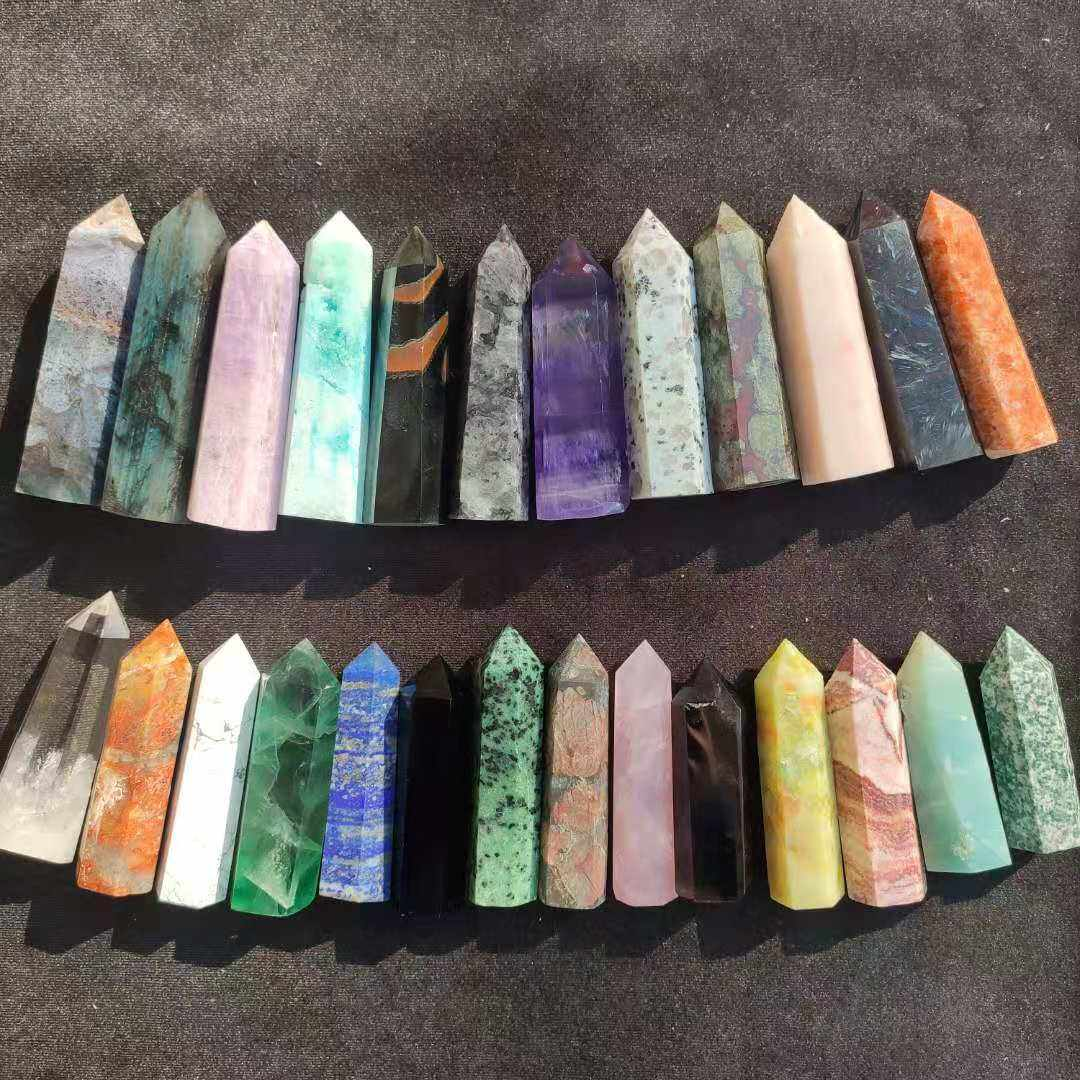Wholesale Natural Healing Stones Crystal Point Clear Rose Quartz Wand For Decoration