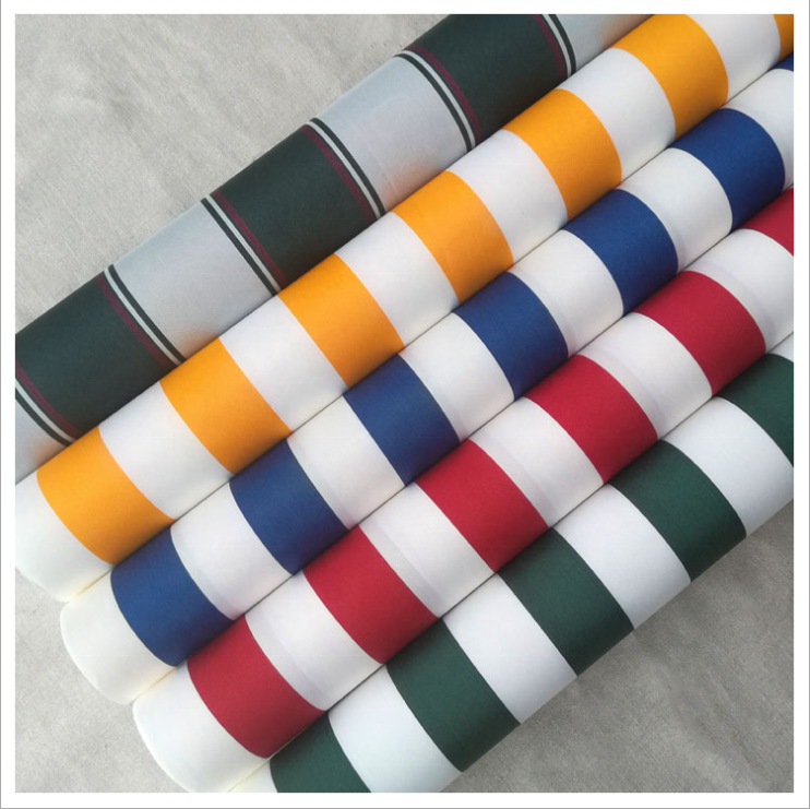 hot sale 100% polyester 600D 2000mm waterproof oxford striped awning fabric for tent