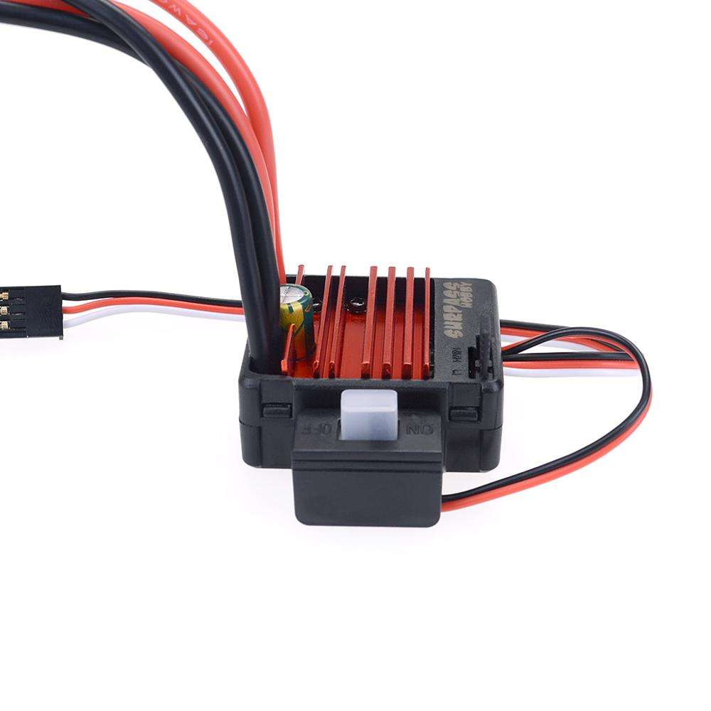 Surpass hobby 60A brushed esc for Crawler car rc car accessories aluminum heat dissipation ESC for rc zd racing
