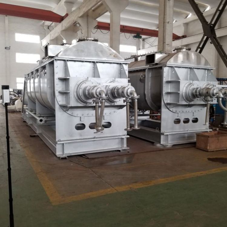 Chinese factory vacuum sludge hollow paddle dryer
