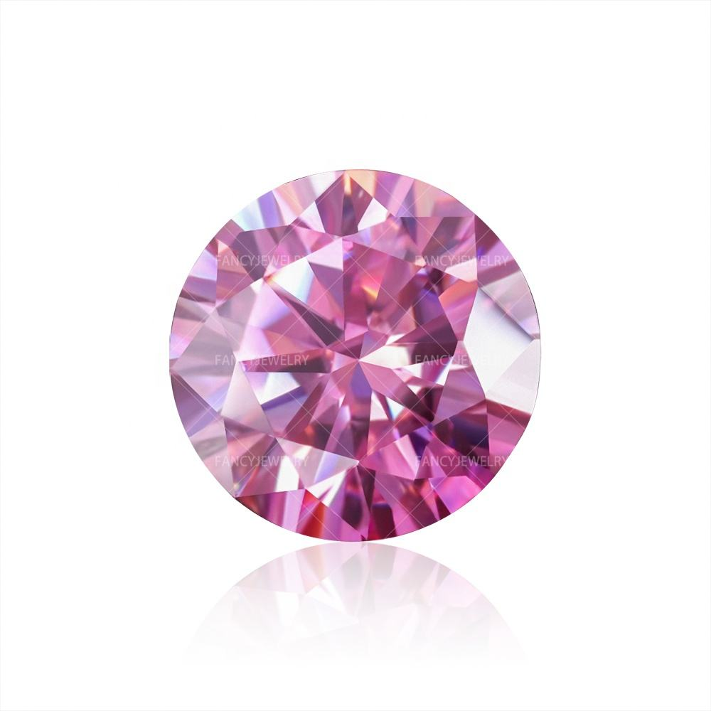 Wuzhou Moissanite Factory Wholesale Pink Color Big Moissanite Diamond With GRA Certificate