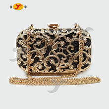 2020 metal carved hollowed-out evening bag women purses  High quality lady evening party handbags Mini clutch bag