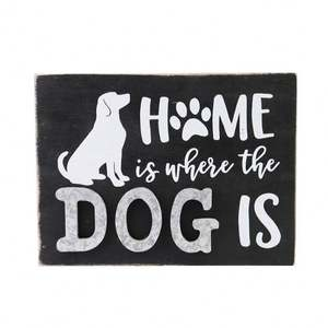 Wholesale Trendy Letters and Picture Hanging Dog Door Wooden Signs