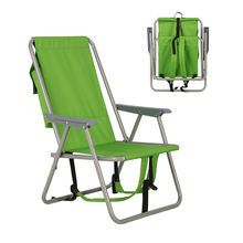 OEM Steel Backpack Camp Beach Fishing folding chair with Big Storage Bag for Outdoor