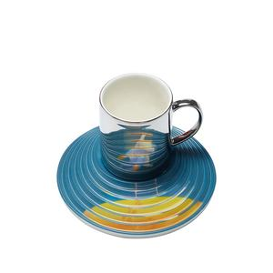 2020 Fashion Creative High Quality Customized Ceramic Cup and Saucer for Gift Sets