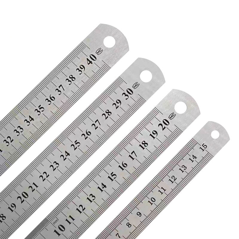50cm Industrial Metal Customized Stainless Steel Rulers With Holes