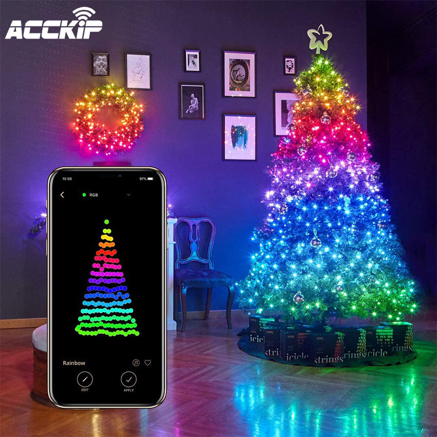 Twinkly Customized Length Twinkly Smart Christmas Tree Lights Smart Controlled Christmas Tree And Twinkly Strings