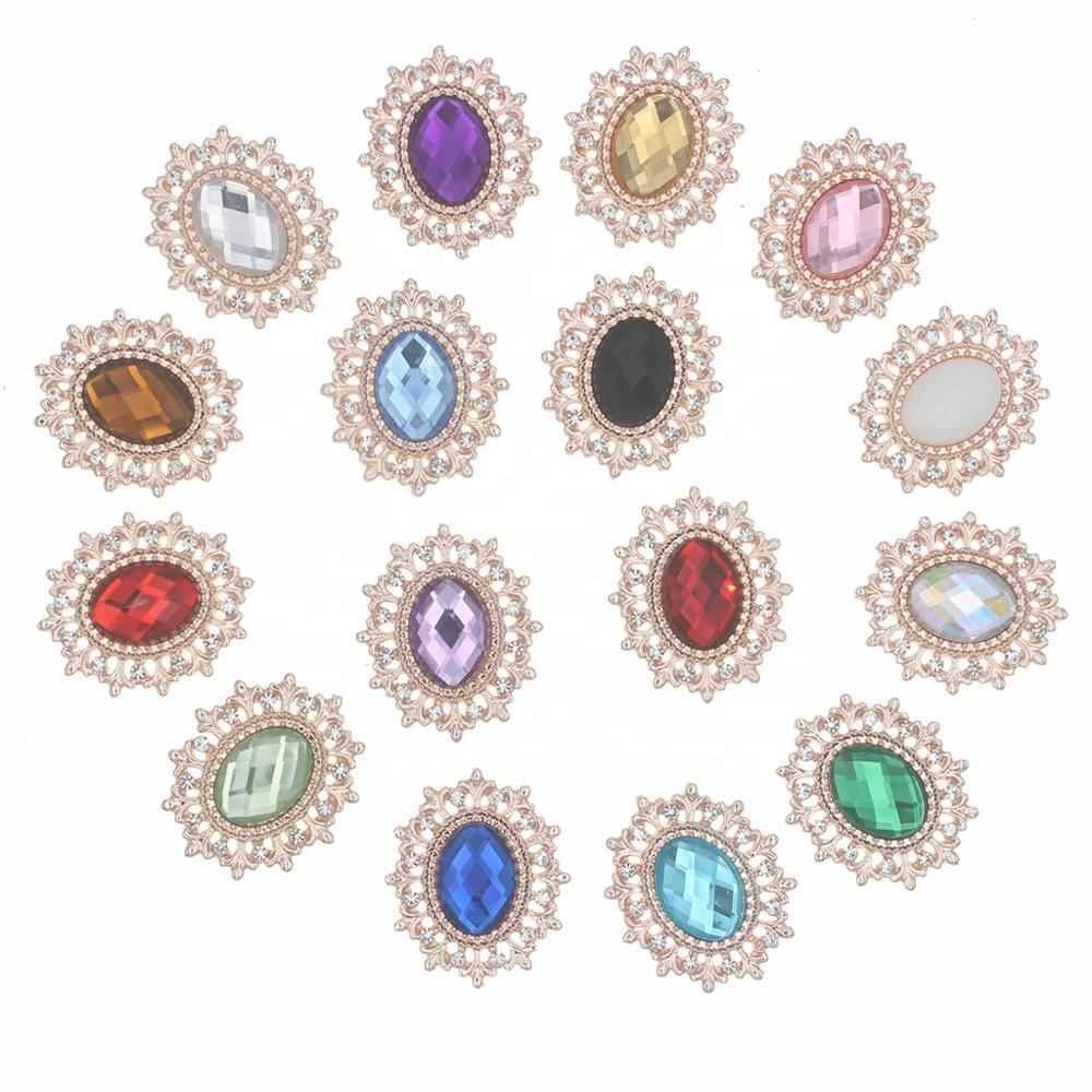 Rhinestone Button For Craft Sewing Diy Handmade Buttons Clothing Decorative Rhinestone Embellishment Home Decoration Accessories